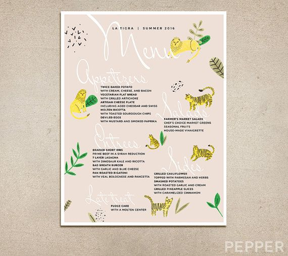 13 best pepper menu design images on pinterest menu design menu custom restaurant menu modern pastel printable pdf template diner brunch coffee shop fast food cafe drinks specials campus tacos malvernweather Gallery