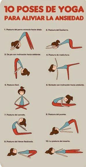 Alivia la #ansiedad con ayuda del #Yoga