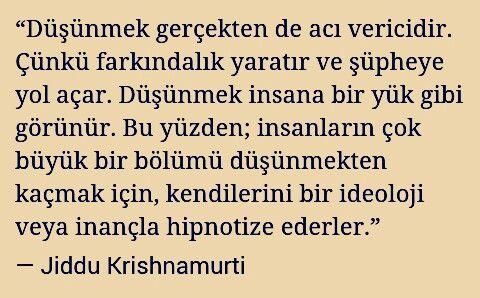 Jiddu Krishnamurti #düşünmek