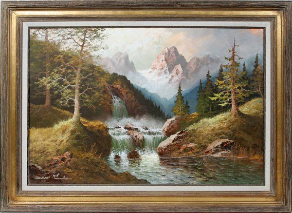 Mountain Paintings - original Mountain Art for sale.