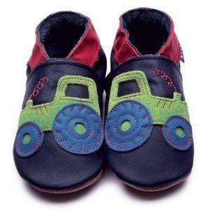 Inch Blue Mädchen/Jungen Schuhe für den Kinderwagen aus luxuriösem Leder - Weiche Sohle - Traktor Dunkelblau - http://on-line-kaufen.de/inch-blue-2/inch-blue-maedchen-jungen-schuhe-fuer-den-aus