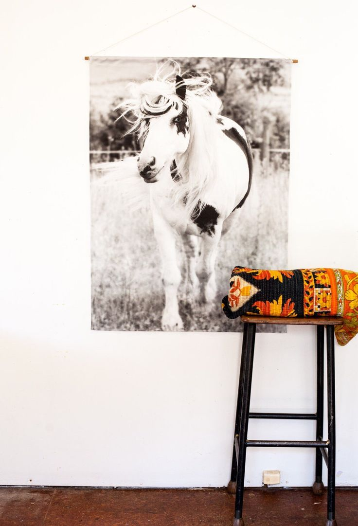 Horse Poster print Fabric Wall Hanging Wall decor for Children by mybeardedpigeon on Etsy https://www.etsy.com/au/listing/400289159/horse-poster-print-fabric-wall-hanging