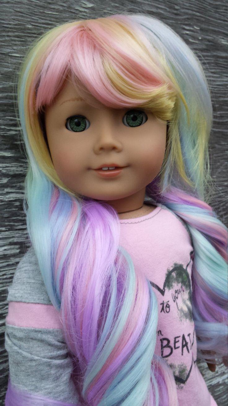 Custom Caroline OOAK American Girl Doll Pastel Unicorn