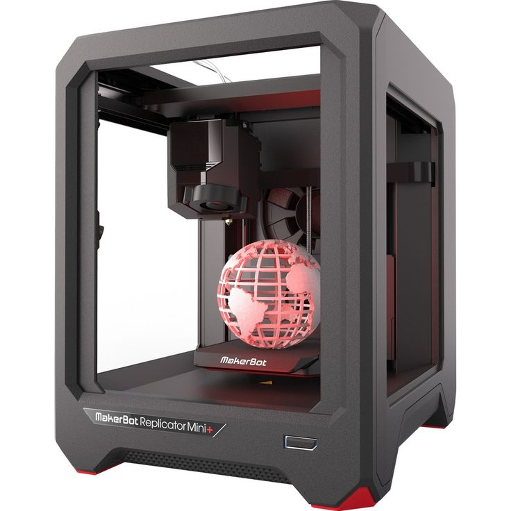 MakerBot Replicator Mini+ 3D Printer - 4.96 x 4.96 x 3.98 Build Size - Fused Deposition Modeling - Single Jet - 3.9 mil Layer - 68.9 mil Filament - Polylactic Acid (PLA) Supported - Wireless LAN