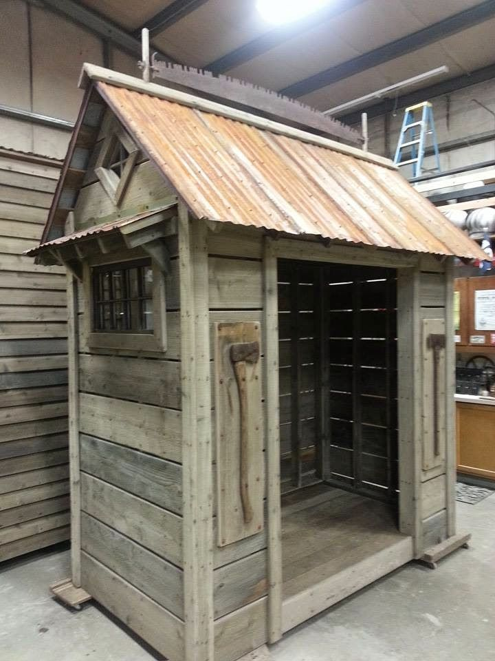 Photo Our Rustic Woodsheds Always Include Vintage Saw