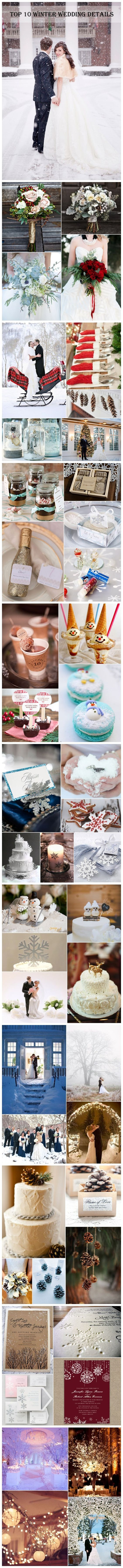 Winter weddings look magical! But only if there's all the beautiful snow, location is important in this case...: