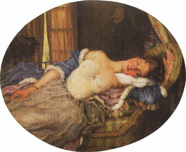 сомов . Спящая молодая девушка