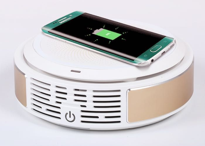 Gbreeze Smart Aircleaner And Wireless Charger - Gbreeze have unveiled a new dual purpose desktop gadget they have created which provides both a wireless charger for your smartphone as well as a smart air cleaner to purify the air around your desk or within your car. | Geeky Gadgets