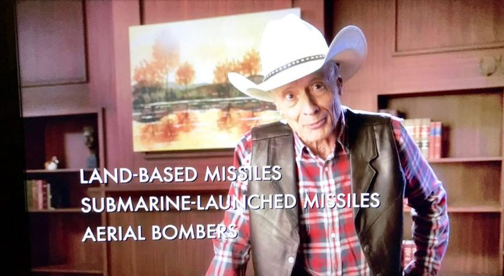 """John Oliver Is Educating Trump on Major Issues With D.C. Ad Buy During Morning Cable News Shows. First spot, about the nuclear triad, aired Monday morning on all three cable news shows, between 8:30 am & 9 am. The spot is a send-up of Medical Direct Club's """"Catheter Cowboy"""" spot, which also runs on cable news. Oliver's faux ad offers some information about the nuclear triad to Trump, who flubbed a question about the topic during a Republican primary debate in December 2015."""