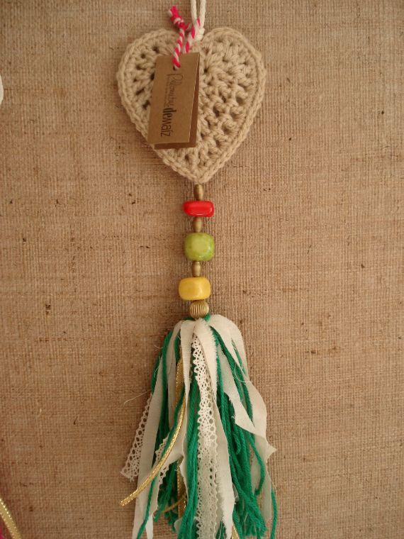 Colgantes de Corazones - Crochet - Tejidos de Punto - 492524