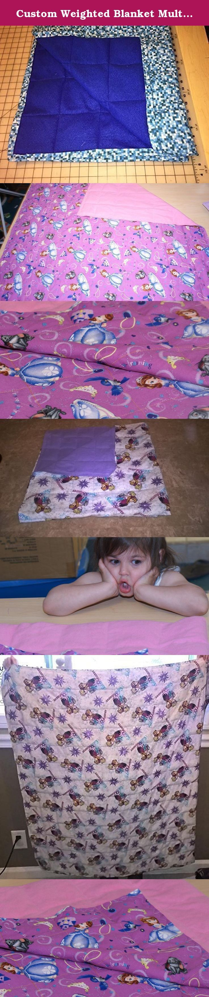 Custom Weighted Blanket Multiple Size Options (helps with sensory conditions). **Weighted blankets are not intended for children under the age of 2 years old and shouldn't be more than 10% of body weight plus 1 pound.** Safety guidelines strictly followed when fulfilling orders. Weighted blankets are used to calm the senses. To order please select the size you want with the standard weight. Select additional weight as needed, then provide fabric choices(cotton/cotton, or cotton/flannel…