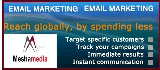 Mesha Media provider of email marketing service, bulk email service provider company in Delhi NCR and India.As a leading bulk email service provider company in Delhi we also provide bulk sms service in Delhi NCR