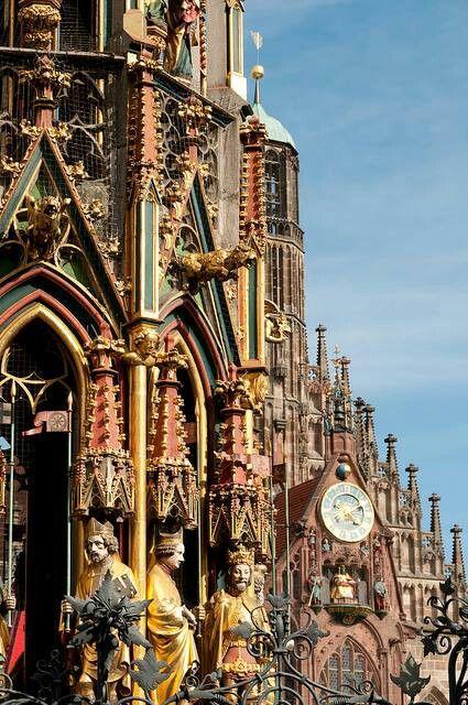 Gothic architecture at Nuremberg