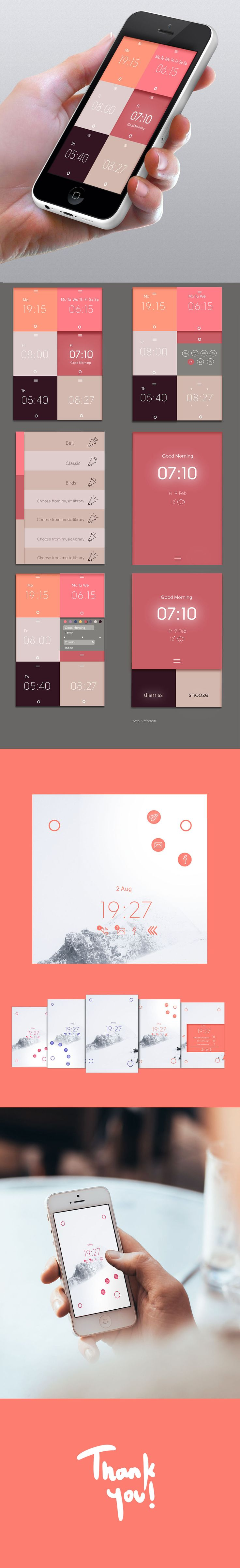 Weekly alarm clock app on Behance