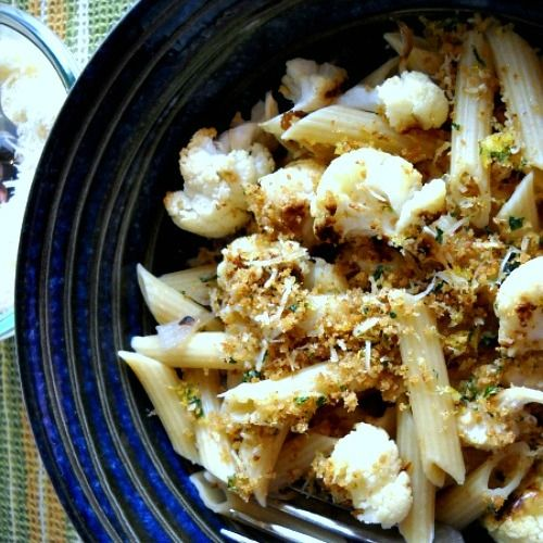 roasted cauliflower pasta - trying desperately to recreate a dish I had in Portland; this looks close