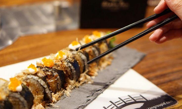 A coming soon sushi menu are prepared. Hmmm. Are you wondering what is it? _ #instafood #foodblog #instamood #cafebistro #bistro #citylife #italianfood #west #chef #happy #caramel #mocha #latteart #espresso #art #barista #social #glasshouse55 #pontianak #indonesia #red #kinfolk #halloweencostume