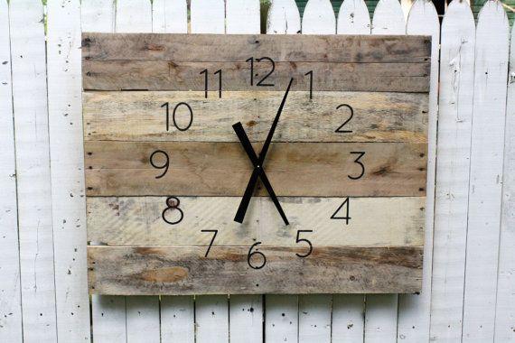 Large FARMHOUSE Clock Rectangular. 36 by 26 Rustic by terrafirma79