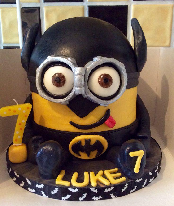 Minion cake Batman cake