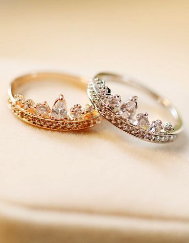 Crown ring, tiara ring mom and daughter matching rings