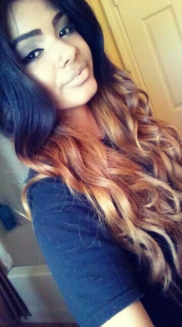 want my hair like this but less of the bronzer color more fade .