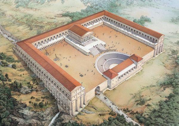 Sanctuary of Hercules (75-50 BC) Tivoli (reconstruction, circular staircase)