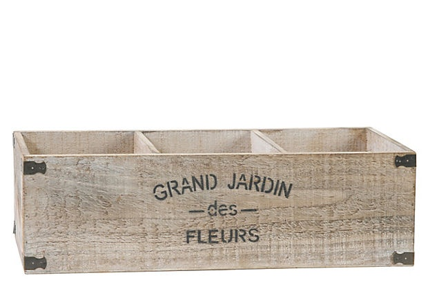 Grand Jardin 3-Plant Planter-so cute for a buffet table-to hold silverware