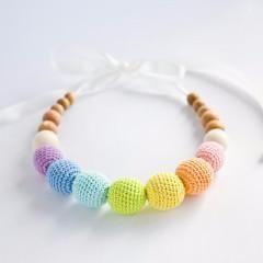 FrejaToys Pastel Sorbetto Rainbow Nursing Necklace