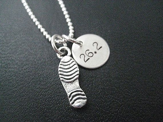RUN 26.2 Running Shoe Sterling Silver Necklace  by TheRunHome, $29.00