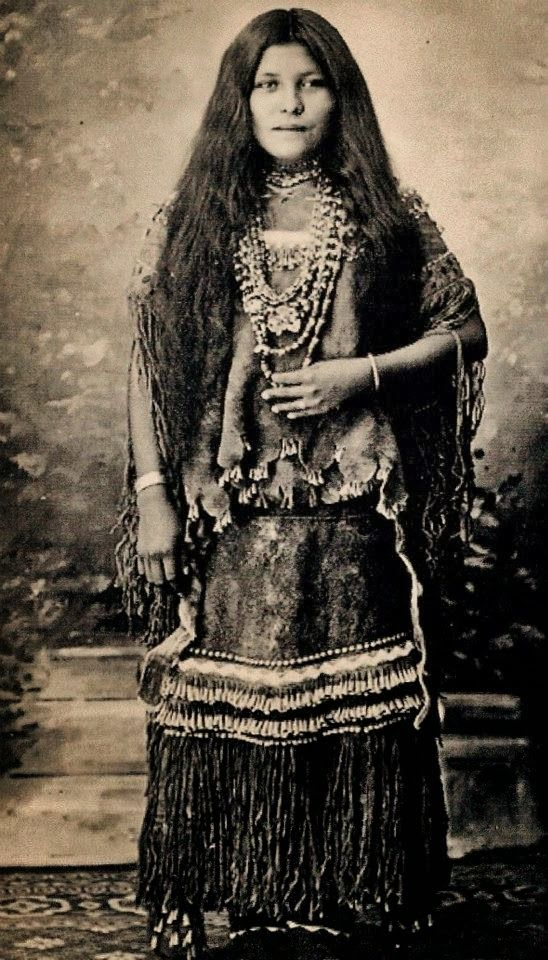 Apache Indian Women. This is where my Asian features come from.