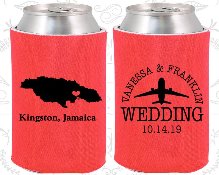 Tangerine Wedding, Can Coolers, Tangerine Wedding Favors, Tangerine Wedding Gift, Tangerine Custom Koozies (182)
