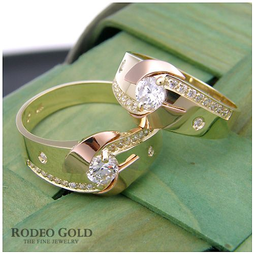 Gold engagement rings TCR78066