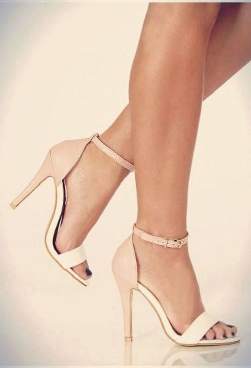 Best 25  Nude strappy heels ideas only on Pinterest | Nude heels ...