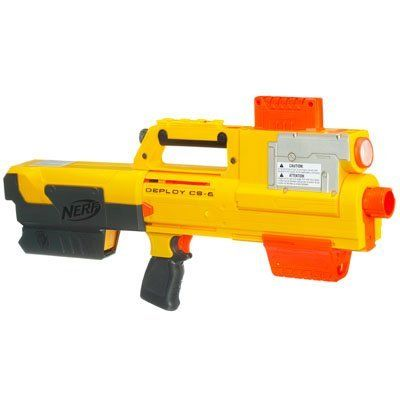 Nerf N-Strike Deploy CS-6 Blaster by Hasbro. $57.75. One quick-reload clip, six Clip-System darts and instructions. Blaster with flashlight comes with carry strap. Prepare yourself for any circumstance ? and prepare to win the battle. To keep you prepared for wherever you have to track your targets. Awesome pump-handle blaster converts to flashlight and back. From the Manufacturer                When your mission calls for stealth, this DEPLOY CS-6 blaster is ...