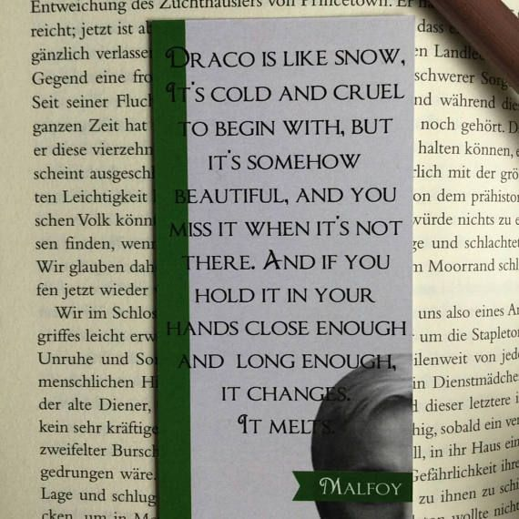 Harry Potter Bookmark Draco Malfoy