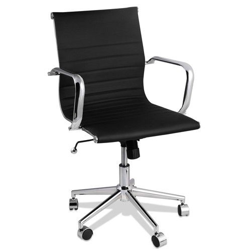 Eames Replica Black PU Leather Executive Designer Office Chair