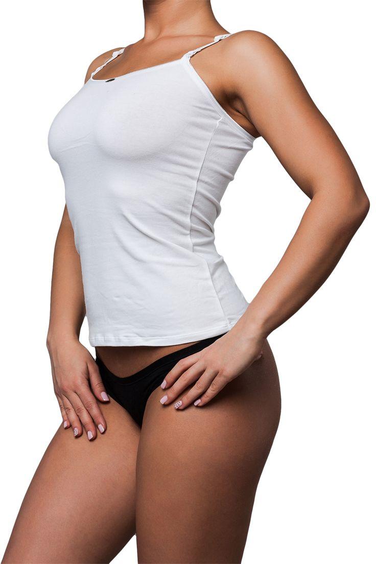 J.Press női kerek-nyakkivágású állítható pántos top [N° 7121] Ár: 2890Ft