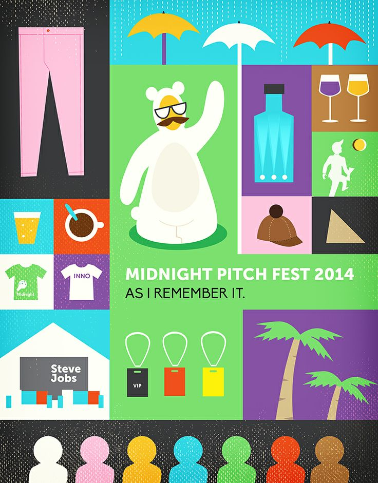 Midnight Pitch Fest 2014 illustrative notes. It was rainy day but still pretty cheerful startup event.