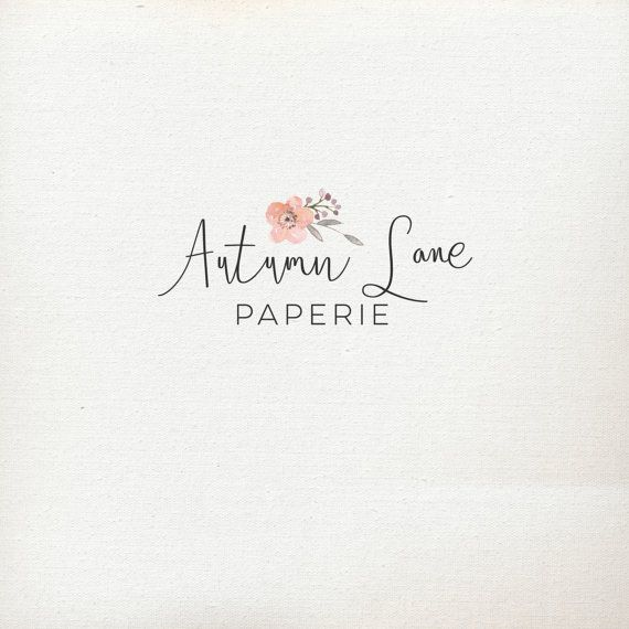 Pre-Made Logo  Premade Logo  Flower Logo  by AutumnLanePaperie