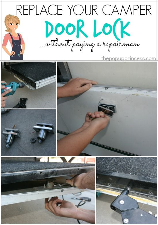 Replace the Lock on Your Pop Up Camper Stepper Door {Without Hiring a Repairman!}