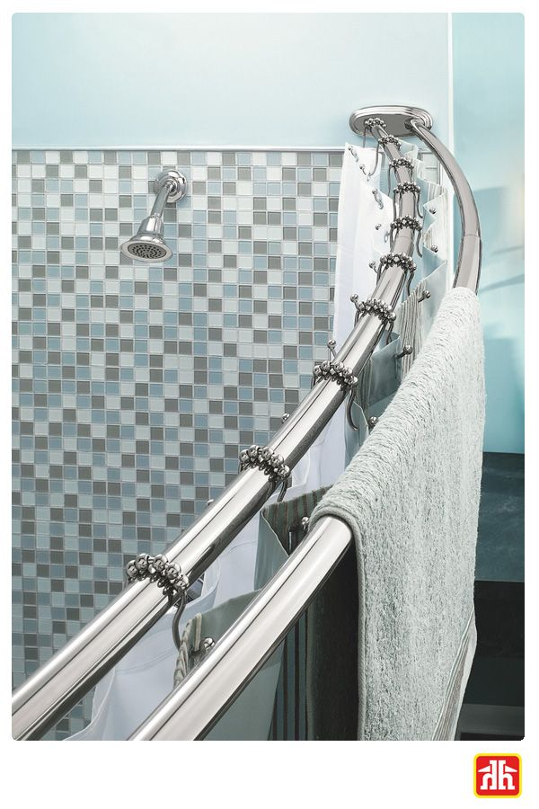 Add extra storage in your bathroom with a double shower rod! This allows for easy access to towels and also separates the shower curtain from the liner.