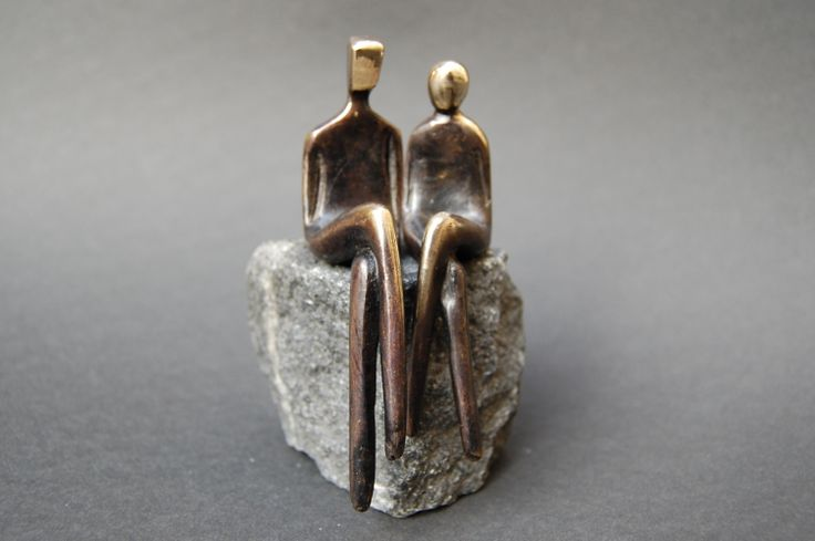 8 Year Wedding Anniversary Gifts For Her: TWO OF US >> Romantic Bronze Sculpture Of A Loving Couple