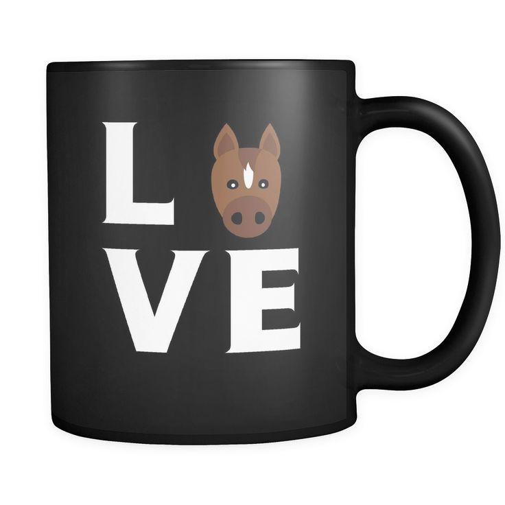 Awesome Horse mug is a perfect gift for any coffee or tea drinker. LOVE Horse mug is a premium quality that will get the attention of friends, family members fo