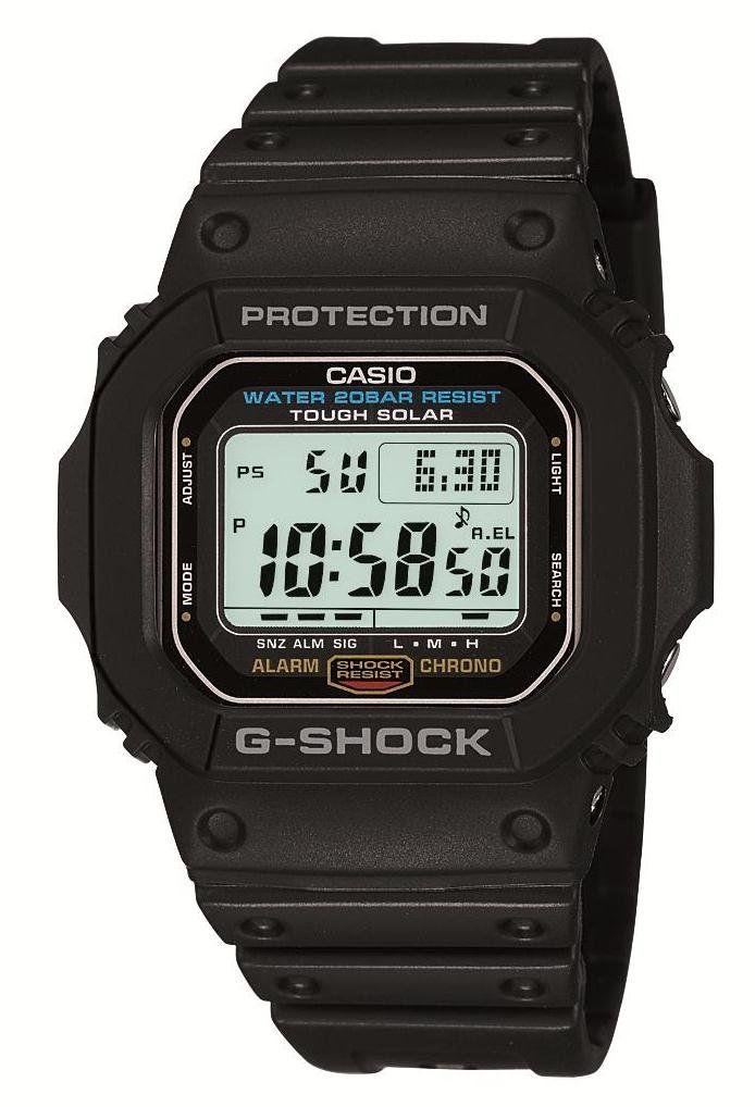 Casio G-5600E-1JF G-SHOCK Tough Solar Watch. Casio G-5600E-1 G-SHOCK Tough Solar Watch.