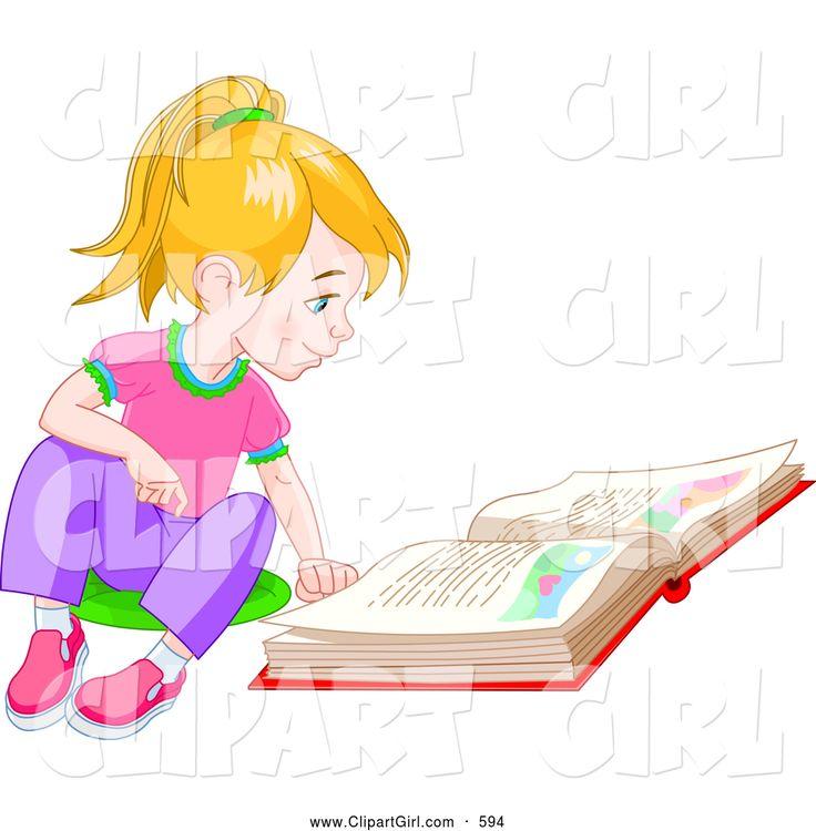 Cartoon of a Smart Brunette Caucasian School Girl Book Doing Homework Study    Royalty Free Vector Clipart by Cartoon Character Studio ClipartPal