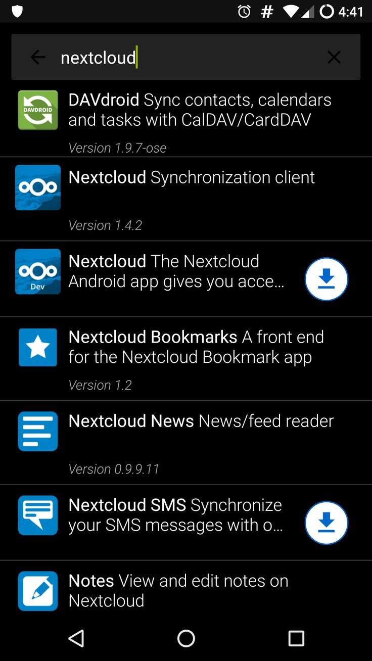 Sync files tasks calendars and contacts on your Android device with Nextcloud