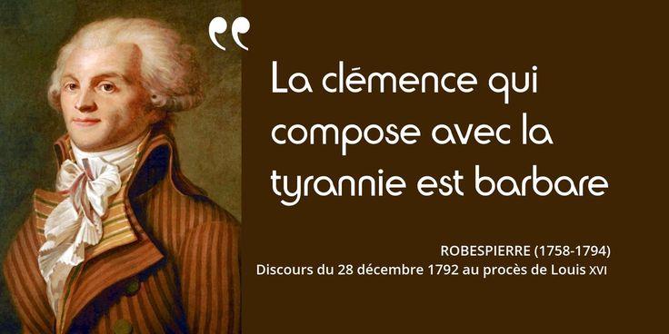 28 décembre 1792 : célèbre discours de #Robespierre au procès de Louis XVI. Il vote la mort du roi