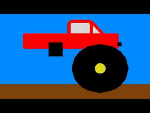▶ Vids4Ninos - Aprender las formas y construir un camión monstruo grande - YouTube