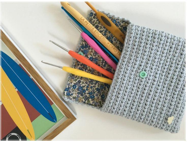 Une jolie pochette à crocheter pour ranger tout votre matériel. Le tuto en cliquant sur le lien :)