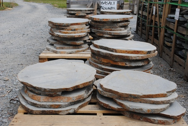 Large bluestone stepping stones. Lay directly in soil or sand. $30 each.