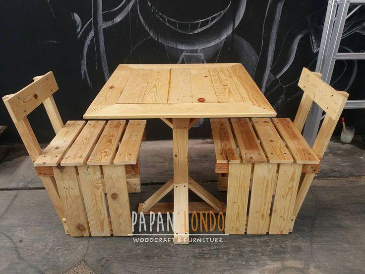 Finished 1 set of dining table for @deviarianiputri!  .  PAPANLONDO woodcraft & furniture Terima custom order kerajinan kayu dan furniture dari kayu pinus jatilondo.  Minat order atau mau nanya produk kami?  081333181815 (Whatsapp)  5AFF5F2E (BBM)  eza324 (line)  #WIP #workinprogress #woodwork #woodcraft #woodcrafting #furniture #palletwood #palletfurniture #pinewood #jatibelanda #jatilondo #kayupallet #kerajinankayu #kreasikayu #souvenirkayu #kayupinus #mejapallet #kursipallet #mejataman…